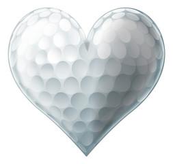 Love golf ball heart