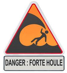 panneau triangle danger forte houle