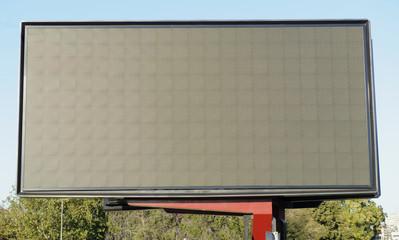 Empty billboard screen