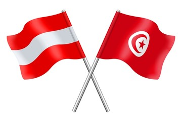 Flags : Austria and Tunisia