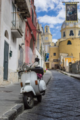 procida island view of an alley