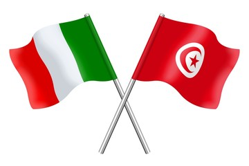 Flags : Italy and Tunisia