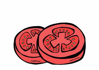 doodle slices tomato