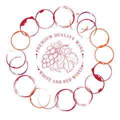 Design of label for wine.