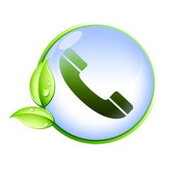 Icone bio : téléphone
