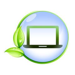 Icone bio : ordinateur