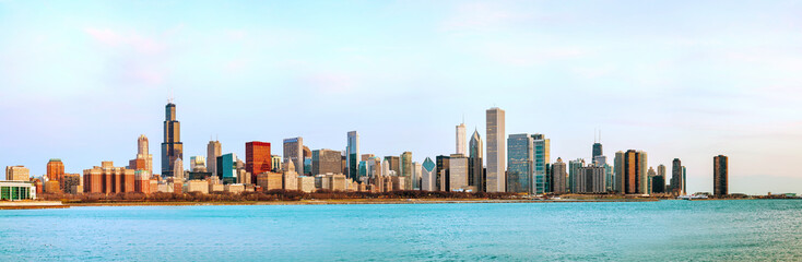 Chicago downtown cityscape panorama
