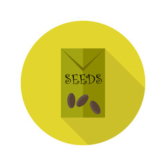 Pack with Seeds flat icon