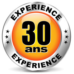 Vector experience label icon