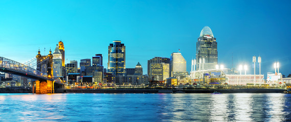 Cincinnati downtown overview © andreykr