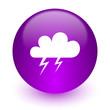 Leinwandbild Motiv storm internet icon