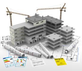 Contrucción de un Edificio. Real Estate. Reparaciones y Reformas