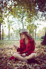 Smartphone Autumn woman