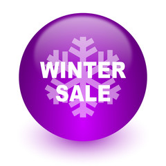 winter sale internet icon