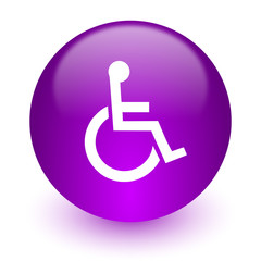 wheelchair internet icon