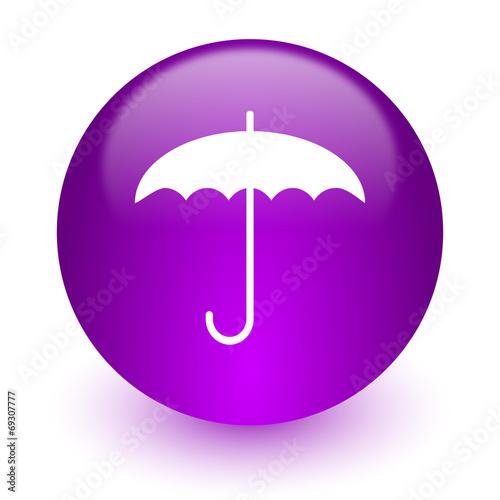 Leinwandbild Motiv umbrella internet icon