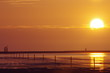 canvas print picture - Sonnenuntergang Nordsee 2