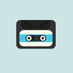 cassette design over lineal  background. vector