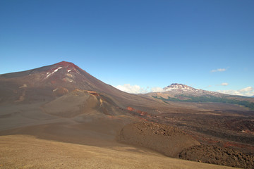 Landscape land of volcanoes., Chile