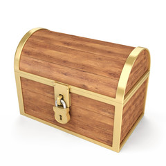 Treasure chest isolated