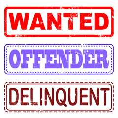 set stamp wanted, offender, delinquent