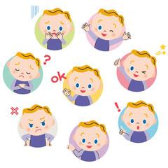 赤ちゃん ポーズ 表情