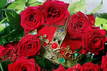 Märchenkrone mit Rosen