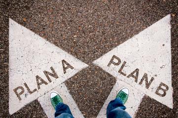 Plan a and b dilemma concept