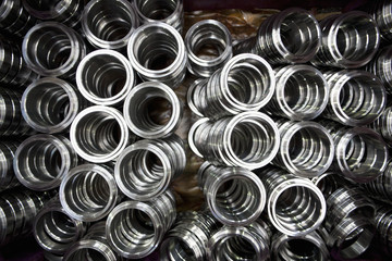 Close up of steel bearings