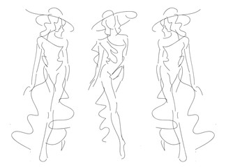 Sketch Fashion Poses