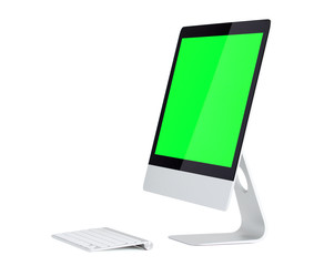 computer with blank screen for your own image