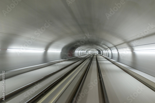 Real tunnel with high speed Poster