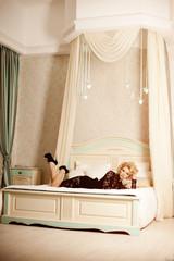 Beauty rich luxury woman like Marilyn Monroe. Beautiful fashiona
