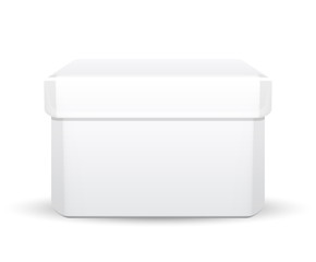 Vector illustration of white box