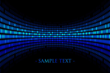 Vector black background with blue lights with space for your tex