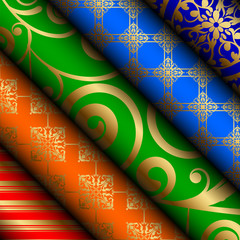 Vector illustration of fabric / paper rolls