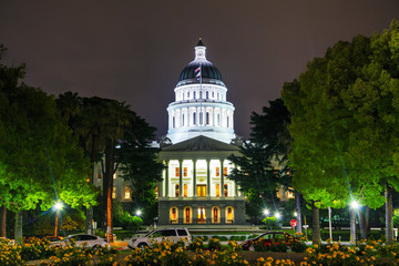 California state capitol building in Sacramento