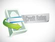credit rating sign illustration design