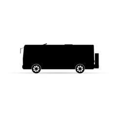 bus silhouette in black vector illustration