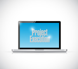 computer project execution illustration design