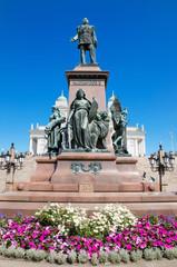 Statue of zar Alexander II  in Helsinki, Finland.