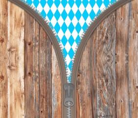 Reißverschluss Bayern Holz