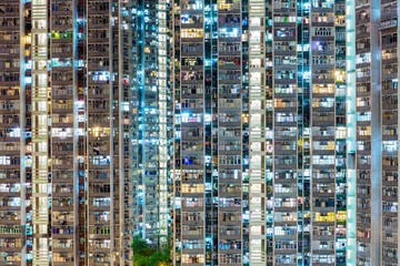 Compact building in Hong Kong