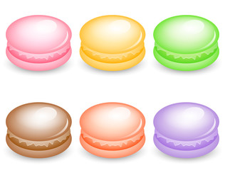 Vector illustration of colorful macarons