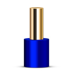Vector illustration of blue nail polish