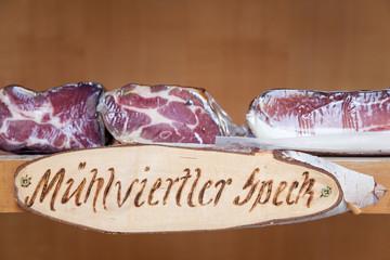 Muhlviertler bacon from Austria