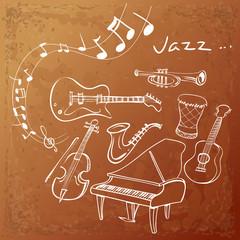 Jazz Instrument Background
