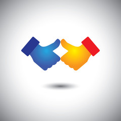 two people thumbs up or like - celebration concept vector