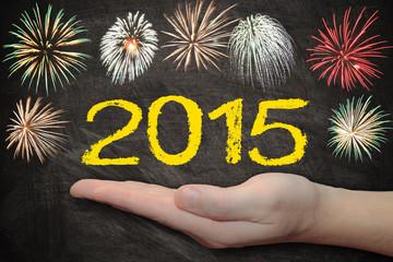 Tafel mit Feuerwerk - 2015