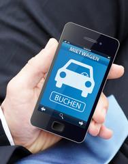 Mit dem Smartphone Mietwagen buchen